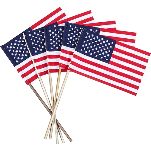 Flags are a major promotional product in political campaigns