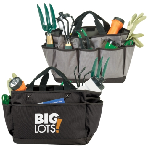 Celebrate with this gardening tote bag.