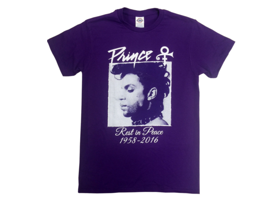 An example of the unauthorized Prince merchandise. (Image via Ebay)