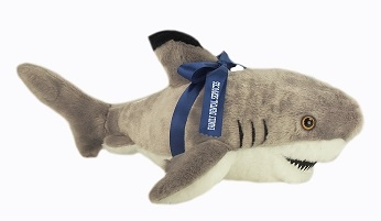 Celebrate the shark with this plush toy.